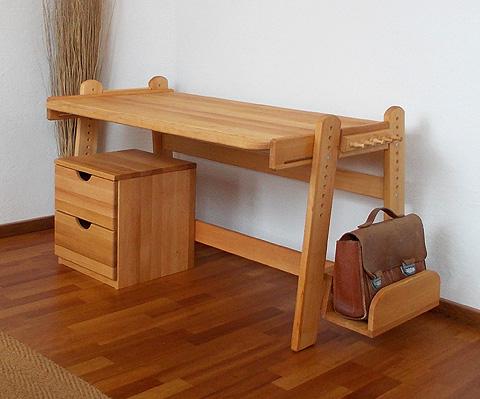 Schreibtisch holz natur  Die Möbelschmiede - Naturmöbel - Kinderschreibtisch FINA - Biomöbel