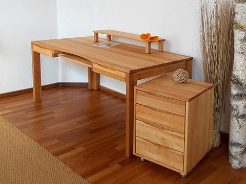 die m belschmiede biom bel office schreibtisch majestro aus massiver bio erle. Black Bedroom Furniture Sets. Home Design Ideas