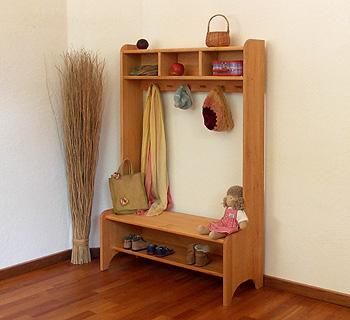 naturm bel kindergarderobe f r kita und zu hause m belschmiede. Black Bedroom Furniture Sets. Home Design Ideas